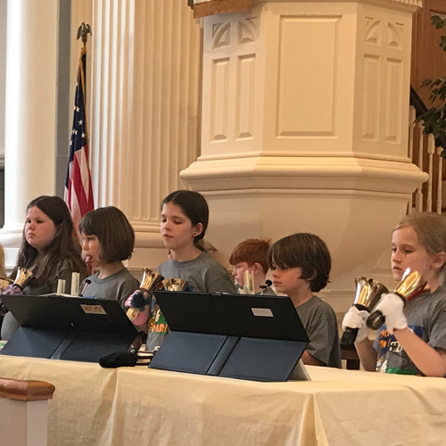 Primary Choir and Handbells Picture