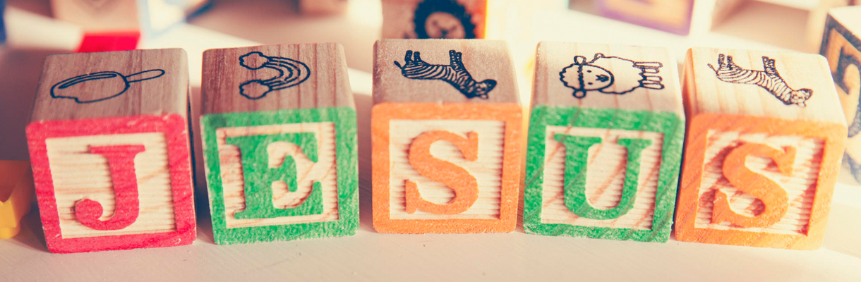Child's blocks spelling 'Jesus'