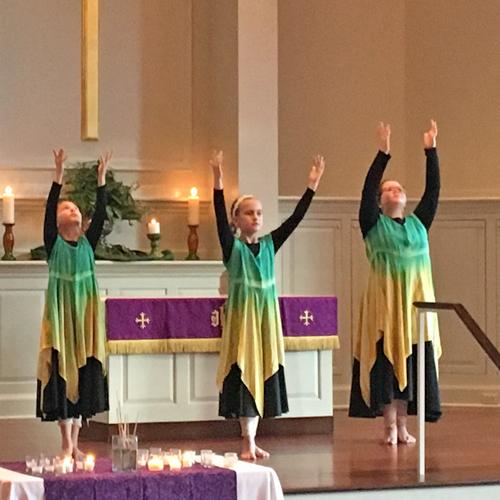 Members performing liturgical dance