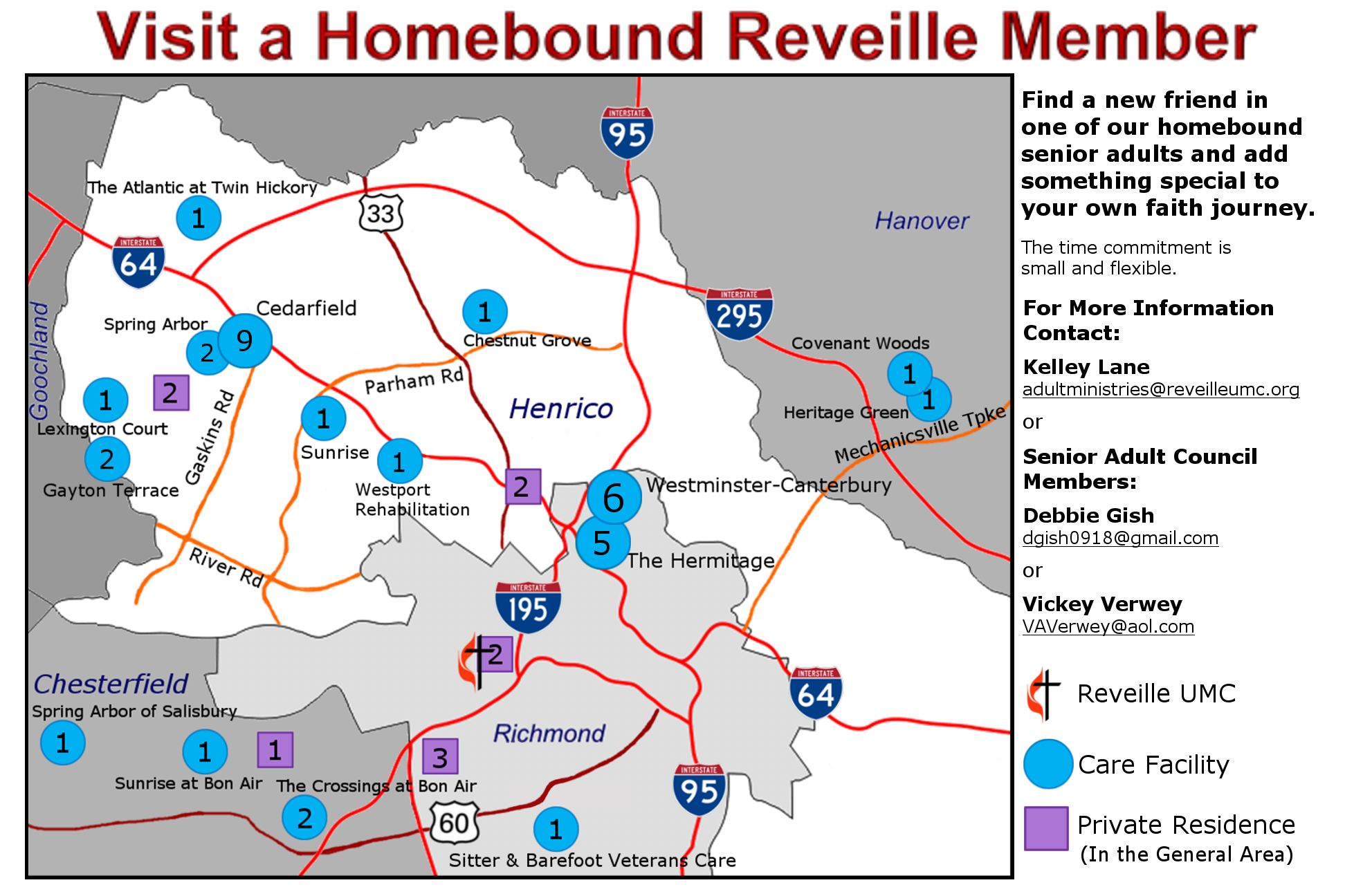 Homebound Ministry Map