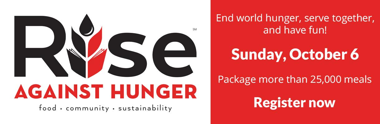 Register for Rise Against Hunger